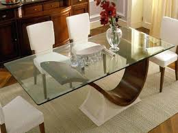 glass top dining room table glass top table with wooden base modern regarding glass top dining tables with wood base decorate