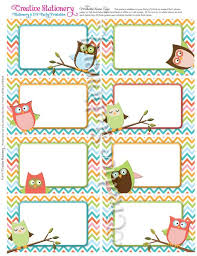 chevron printable tag templates printable owl name tags and aqua chevron coordinates with owl party package and invitation