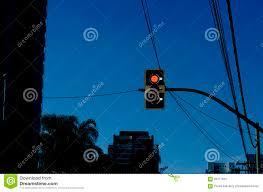Sao Paulo Red Light Traffic Signal Stock Image Image Of Night Semaphore 56177631