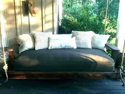 hanging daybed outdoor day bed plans with pillows swing porch diy hanging daybed porch bed swing