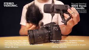 <b>RØDE Stereo VideoMic</b> DSLR Mic Demo - YouTube
