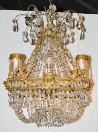fine 19th century french basket chandelier in good condition for in dallas tx
