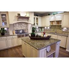 Granite With Cream Cabinets 3 In Granite Countertop Sample In St Cecilia Home Countertops