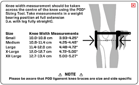 43 Qualified Knee Brace Measurement Chart