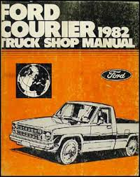 1982 ford courier foldout wiring diagram 1982 ford courier truck repair shop manual original