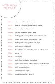 wedding day itinery day of wedding schedule great tips for planning out your wedding