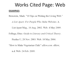 Example Works Cited Mla Works Cited In Text Citations Ppt Video Online Download