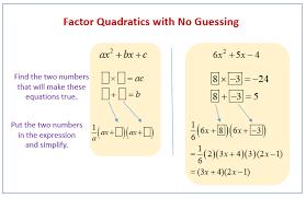 factoring quadratics when coefficient