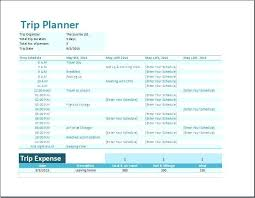 Trip Planner Excel Trip Planner Vacation Business Itinerary Template Formal Word Excel