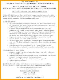 Resume For Counselor Mental Health Counselor Resume Mmventures Co