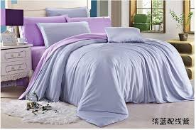 luxury light blue purple lilac bedding set queen duvet cover king size double bed in a bag sheets linen quilt doona tencel western solid duvet covers