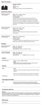 Modelo Basico De Plantilla Cv Para Completar E Imprimir 5