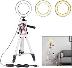 Desk Ring Light Amazon B Land 5 7 Ring Light With Tripod Stand For Youtube Video And Makeup Mini Led Camera Light With Cell Phone Holder Desktop Led Lamp With 3 Light