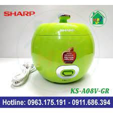 Nồi Cơm Quả Táo 0.72L Sharp KS-A08V - Nồi cơm điện Thương hiệu SHARP