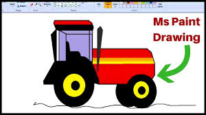 how to draw a tractor in ms paint draw a tractor in ms paint step by step