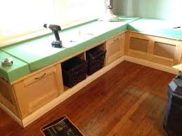 corner bench storage revised diy kitchen table