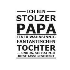 Tasse Bedruckt Papa Vater Vatertag Spruch Tochter Black