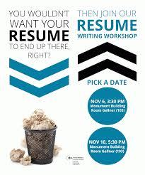 Resume Writing Workshop Rrw 2015 November Poster Jobsxs Com