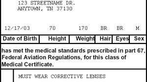 Faa Medical Eye Chart Third Class Medical Reform Reality