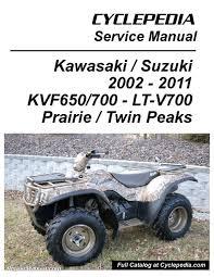 kawasaki kvf650 brute force kvf650 kvf700 prairie suzuki cyclepedia brute force manual page 1