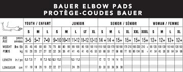 Bauer Supreme Size Chart Bauer Supreme 1s Elbow Pad Jr 17