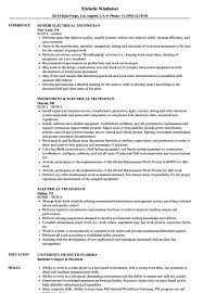 Resume For Electrical Technician Resume Sample