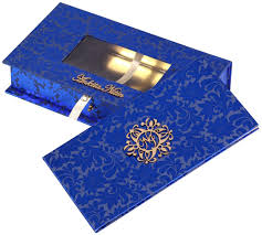 card box in royal blue and golden with sweet box Wedding Card With Sweet Box wedding card box in royal blue and golden with sweet box indian wedding cards with sweet box