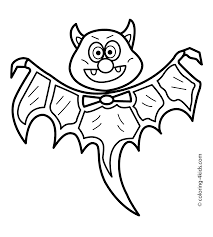 Small Picture Halloween bat coloring pages for kids bat printable free