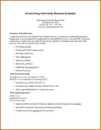 Accounting Internship Resume Career Center Internship Resume