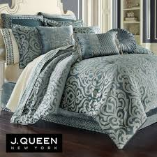 Sicily Teal Medallion Comforter Bedding by J Queen New York & Sicily Teal Comforter Set Teal Adamdwight.com