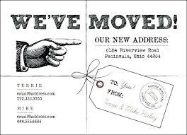 Free Moving Announcement Template House Cards Notice Icons Business