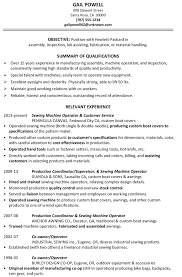 Resume Sample Assembly Inspection Fabrication