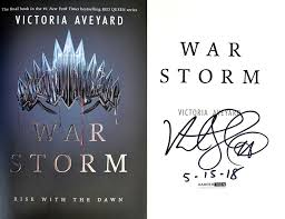 details about victoria aveyard personally signed dated war storm 1st 1st red queen bk 4