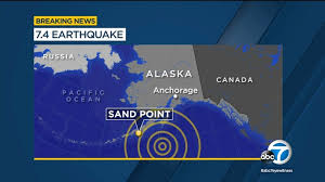 While earlier tsunami warnings had been called off, the third quake prompted the national emergency management agency to send out a new alert and tsunami sirens sounded in some areas. Alaska Earthquake Measuring 7 5 Triggers Tsunami Warning Abc7 Los Angeles