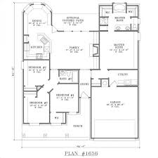 simple one story 2 bedroom house plans unique 4 bedroom house plans e story floor plan
