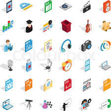 Modern Post Office Icons Set Stock Vector Colourbox