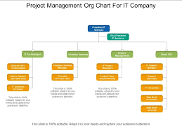 Company Org Chart Project Management Org Chart For It Company Powerpoint