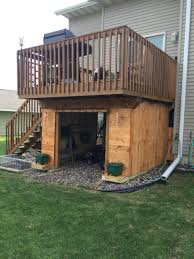 Deck Designs With Storage Underneath Recycled Skids To Make Use Of Wasted Space Patio Under