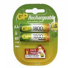 <b>Аккумуляторы</b> AA (пальчиковые большие) <b>Ni</b>-<b>Mh 1800мАч</b> GP ...