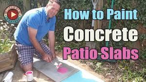 can i paint concrete patio slabs