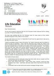 Life Education Year 3 Letter Snapshot