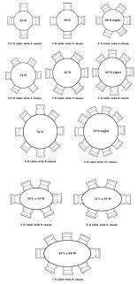full size of chair graceful dining table size for 8 16 standard round room dimensions 58