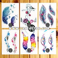 наборы временных татуировок в виде перьев и стрел