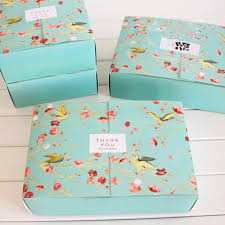 Decorative Cookie Boxes Free shipping big blue flower birds decoration bakery package 17