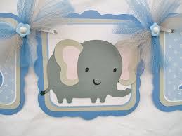 Baby Shower Banner Elephant Baby Shower Banner Blue Baby Shower Garland