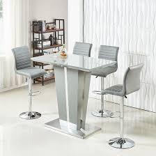 memphis glass bar table in high gloss