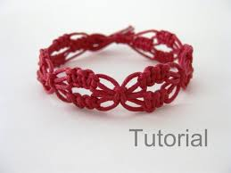 Macrame Bracelet Patterns New Macrame Bracelet Pattern Red Lacy Macrame Bracelet Pattern Etsy