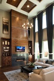 Two Story Living Room Curtains Two Story Family Rooms Give Extra Impact With Floor To Ceiling
