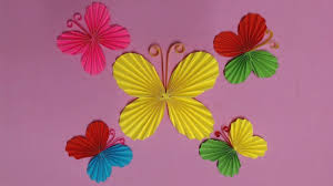How To Make Butterfly With Color Paper Diy Paper Butterflies Making