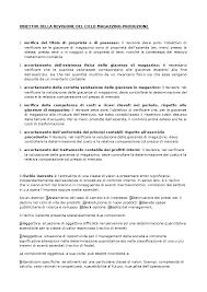 Obiettivi Della Revisione Del Ciclo Magazzino Docsity
